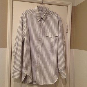 Giorgio Armani men's pin striped shirt. Size 16